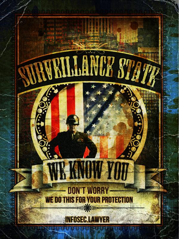 Government Surveillance Propaganda Poster