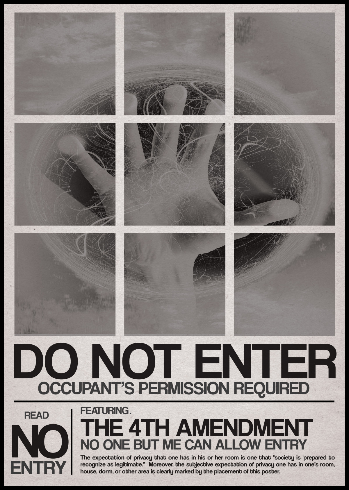 Reasonable Expectation of Privacy Poster